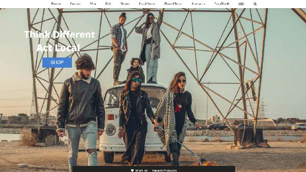 Brandloca home page concept