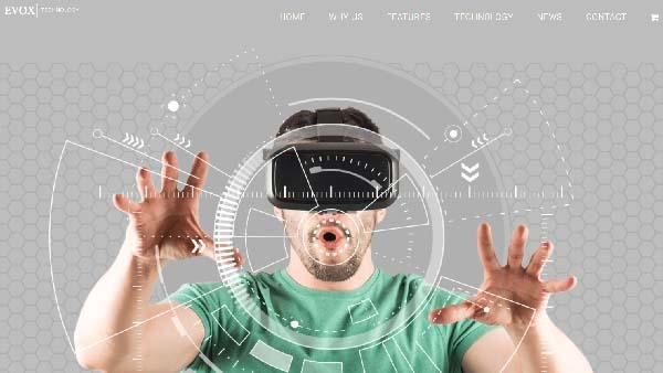 futuristic vr glasses